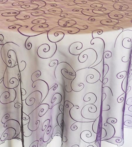 chair cover, pintuck, runner, overlay, table, linen, damask, taffeta, organza, Scroll