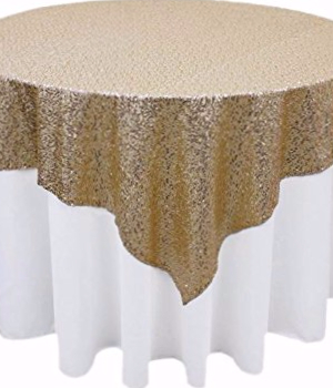 light gold, champagne gold, sequin runner, table overlay, sparkle, wedding glitz, glitter